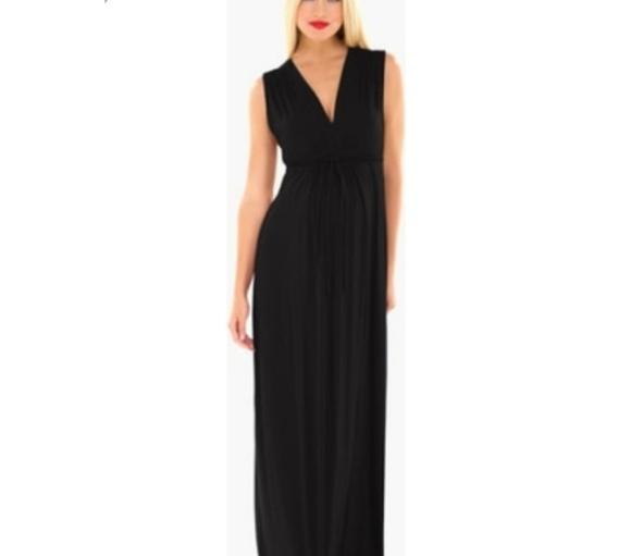 Olian Dresses & Skirts - New Olian LUCY Maxi Maternity Dress Black Sz XS